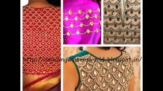 Download HOW TO MAKE STONE LINE DESIGNING ON FABRICS FOR BLOUSE/CROP TOPS - DIY 3Gp Mp4