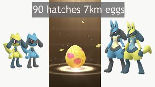 What are my Shiny Riolu chances  on 90 hatches 7km egg?
