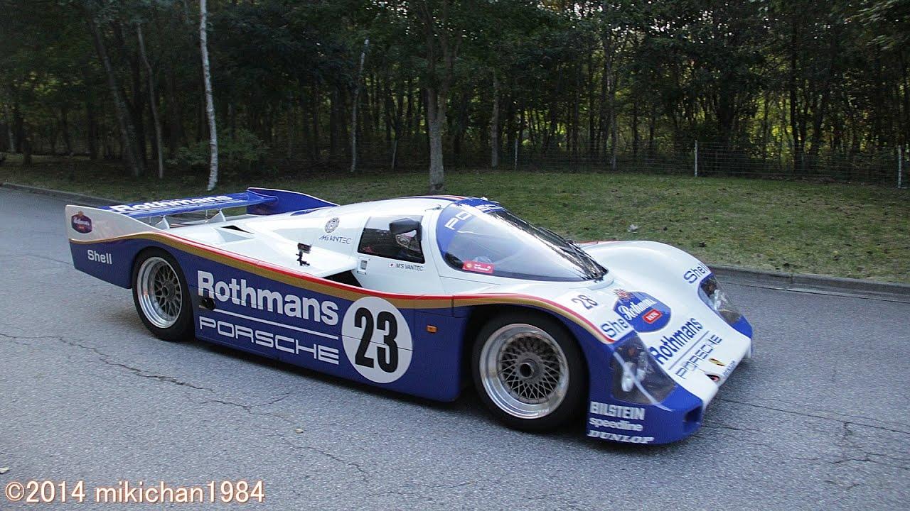 Porsche 962c On The Public Roads Twin Turbo Engine Start Up Amp Exhaust Sound Asama Motor