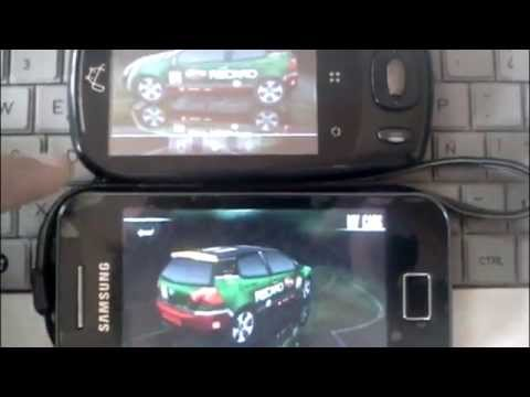 Samsung Galaxy Ace Vs Zte N720 Need for speed Shift