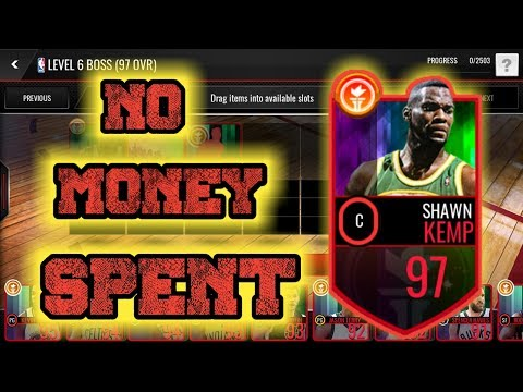 HOW TO GET THE 97 OVR SEATTLE COURTS BOSS SHAWN KEMP WITHOUT SPENDING MONEY!!!! NBA LIVE MOBILE