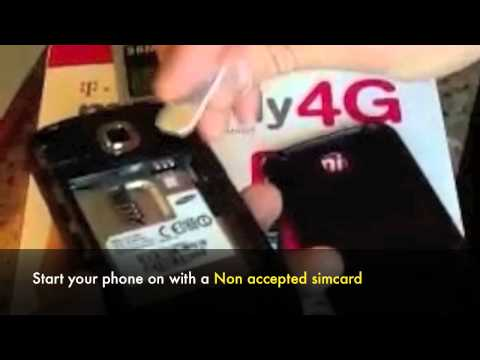 UNLOCK SAMSUNG DART T499 - How to Unlock T-Mobile Samsung Dart SGH-T499 by Unlock Code
