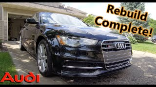 It's All Done!!! Part 4 & 5 - COPART Rebuild - Wrecked 2012 Audi A6