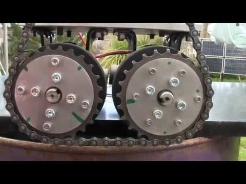 Wind turbine. three treadmill motors