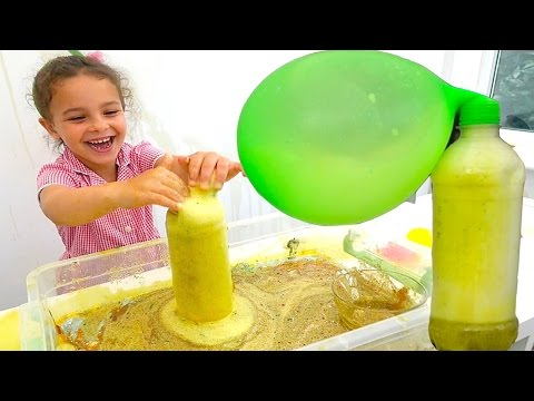 how to make a volcano with baking soda and vinegar