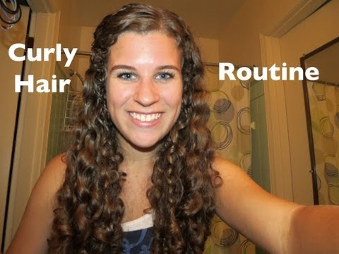 Curly Hair Styling Routine 2012