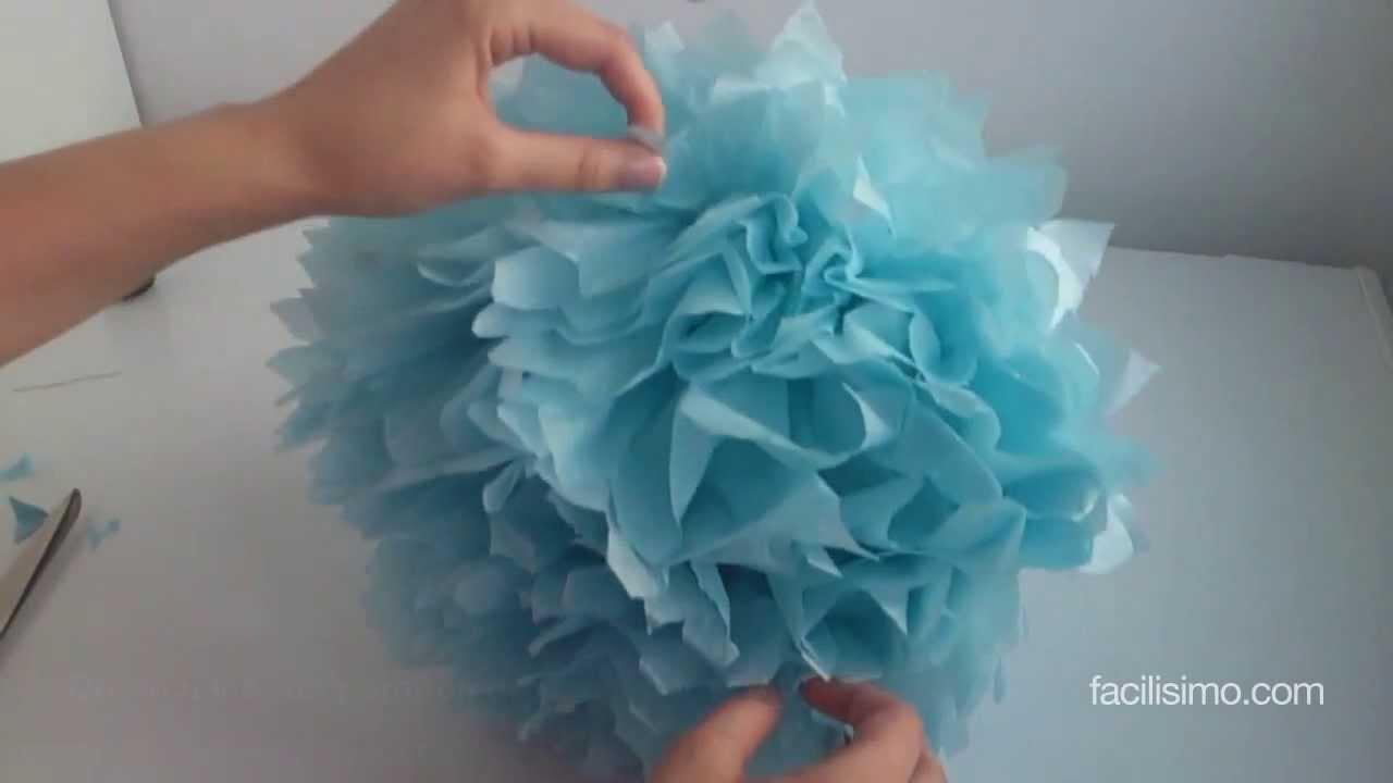 Como hacer los pompones de papel de china images - Como hacer cadenetas de papel para fiestas ...