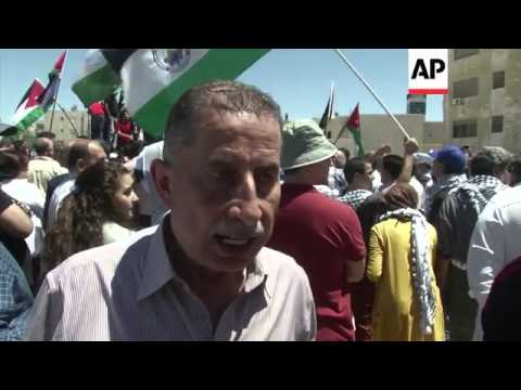 Protesters rally against Israeli military operation against Gaza militants