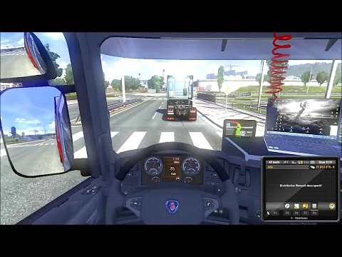 Romanian map ETS2: Bucuresti - Brasov GAMEPLAY v1.8.2.5