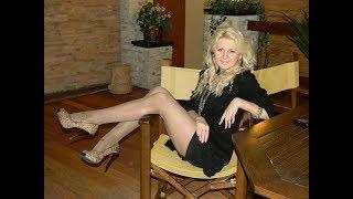 Older Women over 40 in High Heels, Mini Dress & Tights