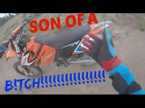 KID BLOWS UP NEW KTM 125!!!