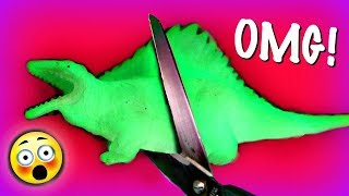 YOU WON'T BELIEVE WHAT'S INSIDE THIS!   CUTTING OPEN STRESS BALL SQUISHY TOYS & MAKING SLIME