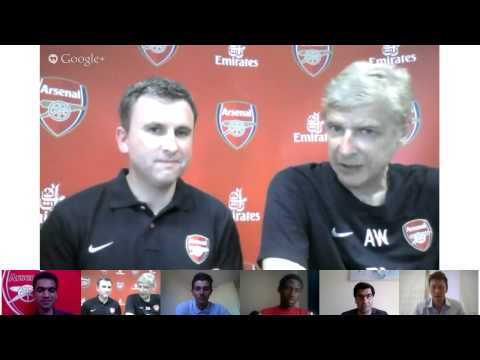 Arsene Wenger G+ Hangout | Arsenal | Emirates