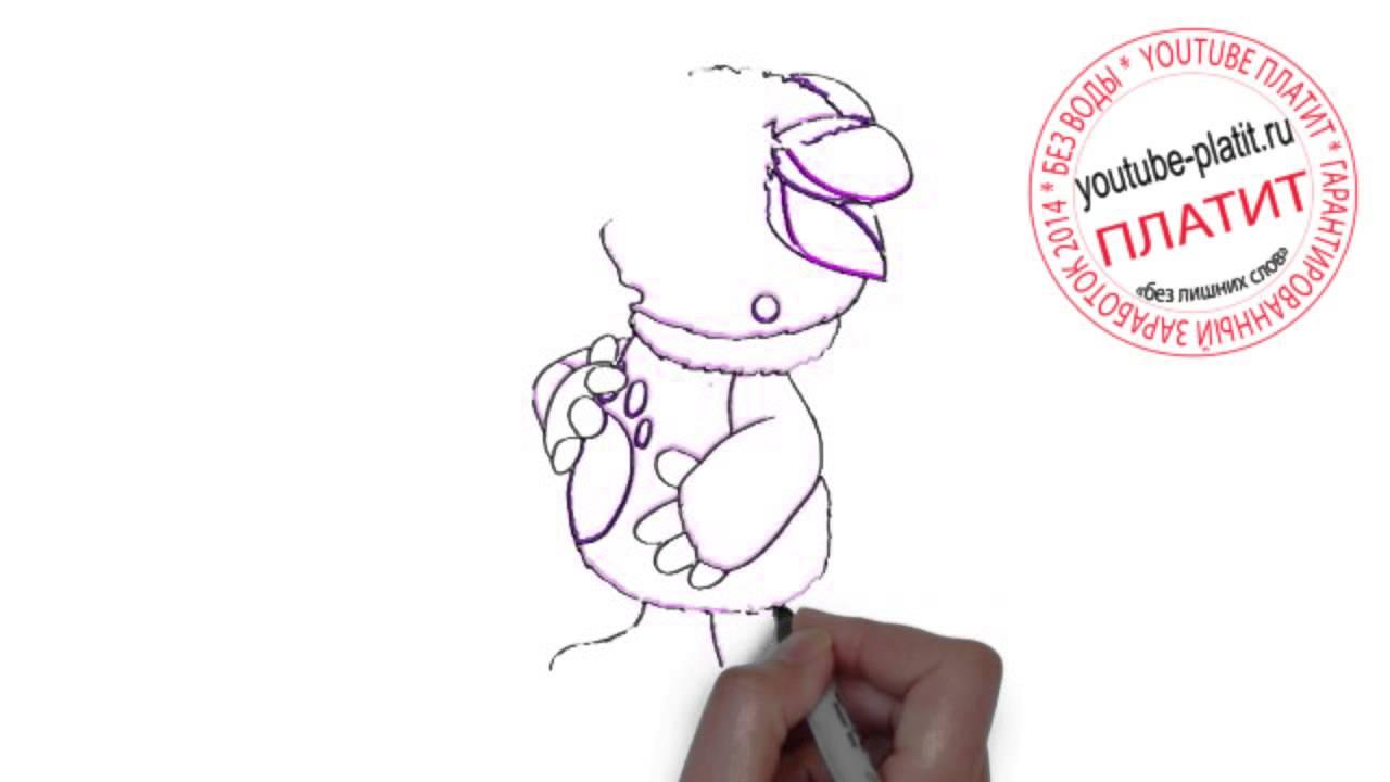 Как легко нарисовать лунтика поэтапно