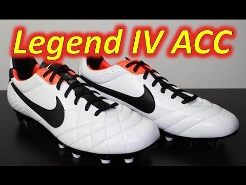 Nike Tiempo Legend IV ACC White/Black/Total Crimson - Unboxing + On Feet