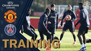 Manchester United train ahead of Paris St-Germain UEFA Champions League clash