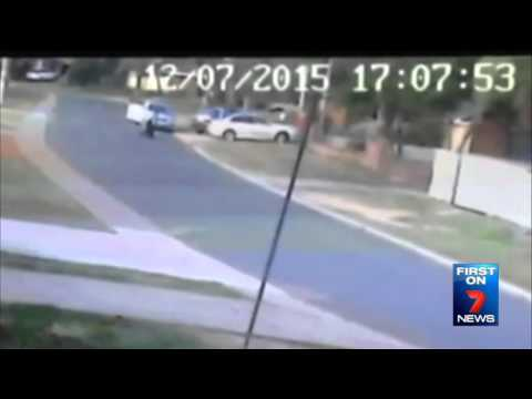 Police Officer Injured   Seven News Perth   13/07/2015