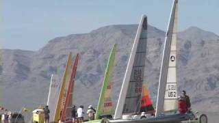 Land Sailing - Exciting on board video of Mini land yacht racing - Miniyachts !