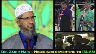 Nigerians reverting to Islam in Dr. Zakir Naik's Lecture