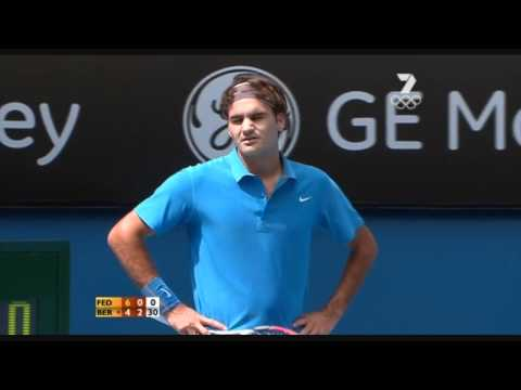 Roger Federer argument with the umpire Australian Open