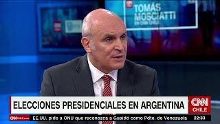 José Luis Espert con Tomás Mosciatti, en CNN Chile el 10 de Abril de 2019