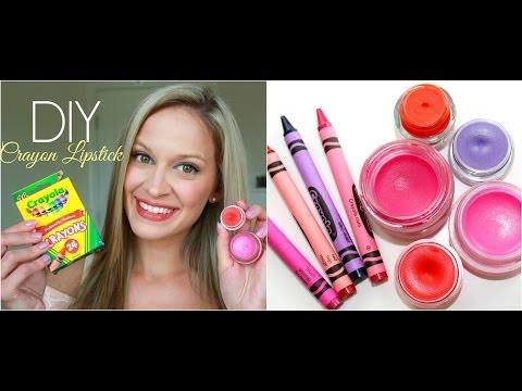 DIY   Make Lipstick out of CRAYONS! + DIY Lip Balm