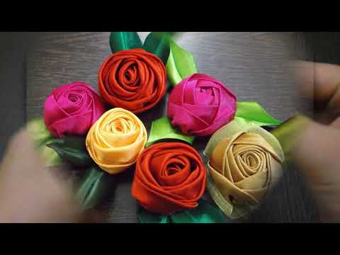 D.I.Y. Handmade Satin Rose - Tutorial