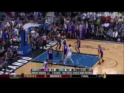 Lakers vs Magic Game 4 Highlights – 2009 NBA Finals – Lakers win 99-91 in OT – Jalen Rose on ESPN