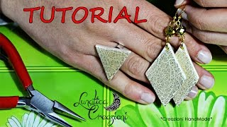Polymer Clay Tutorial: Parure con Foglia Oro Effetto Cracklè | Gold Leaf Crackle on Polymer Clay