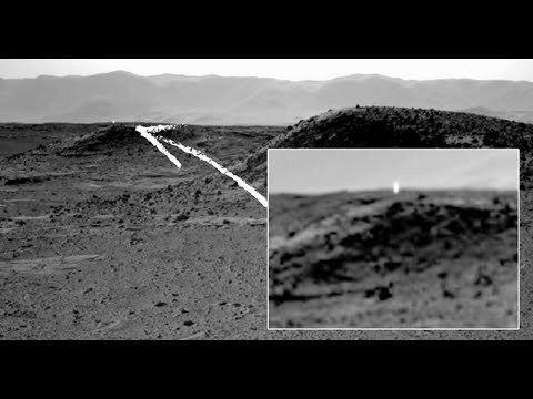 El Curiosity capta luces en Marte