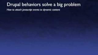 Understanding Drupal Javascript Behaviors