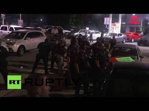 Arrests as Black Lives Matter picket Baton Rouge police HQ for three nights running