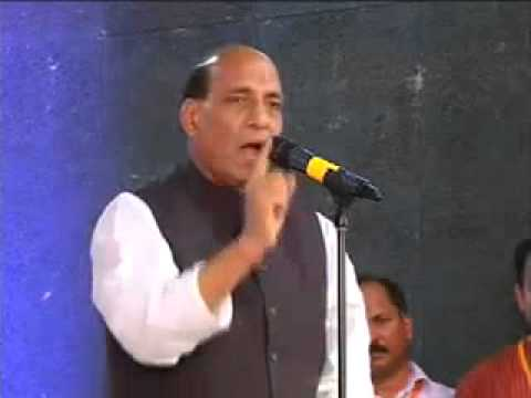 BJP chief Rajnath Singh speaks at Goa after appointing Narendra Modi as poll panel chief