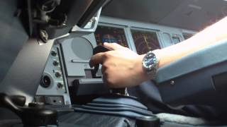 Airbus Cockpit Action - Landing (Sidestick View)