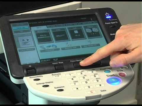 How to Scan to Email from a Konica Minolta MFD