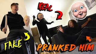 I Pranked Him With FAKE HAPPY DEATH DAY And THE REAL ONE SHOWED UP!!