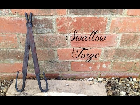 How to Forge Simple Tongs ideal for knife making - Swallow Forge