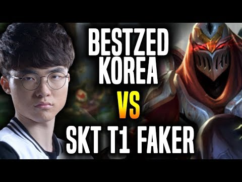 Best Zed Korea Plays vs Faker Again ft Peanut - Wolf & Blank   Korean Challenger Zed vs SKT T1 Faker