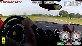 daniele v. giro in pista a Vairano (PV) con F430 puresport: e l'istruttore si incazza!!!!!