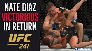 Nate Diaz IS BACK, calls out Jorge Masvidal after win | UFC 241 | CBS Sports HQ