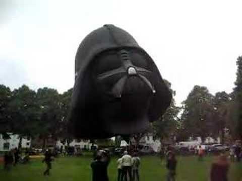 Darth Vader helmet-shaped hot air balloon