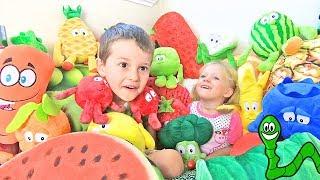 Learning FRUITS & VEGETABLES for Toddlers & Children