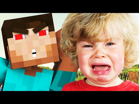 GRIEFING A FREAKED OUT 6 YEAR OLD ON MINECRAFT! - (Minecraft Trolling)