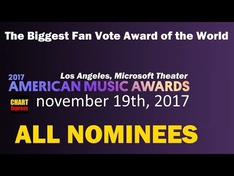 AMA's 2017 - And The Nominees Are.. | American Music Awards | 19th November 2017 | ChartExpress