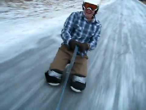 Crazy Ice Ride Down The Street