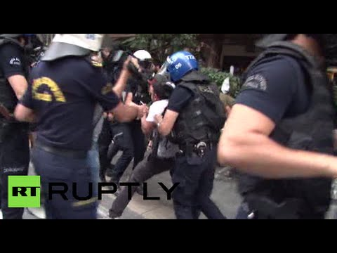 Clashes, arrests as activists protest Turkish airstrikes in Syria & Iraq