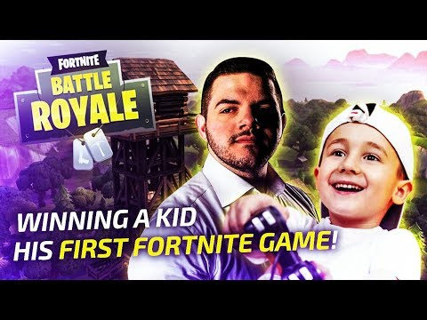 WINNING A KID HIS FIRST FORTNITE GAME!!! - Gam Gam! (Fortnite: Battle Royale)