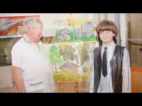 O familie de pictori:Viorel si Olga Marginean,Alexandru si Mihnea  Marginean, pictori romani