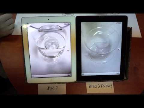 Съемка видео на новом iPad 3 и на iPad 2 (New iPad 3 video)