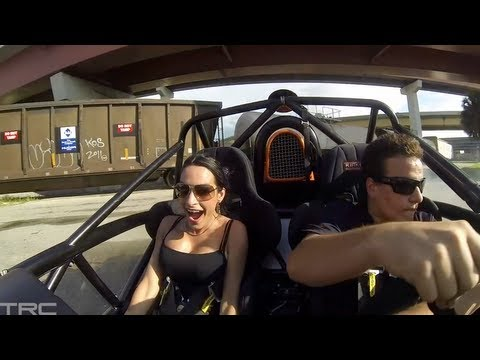 Sexy Dayanis has fun in Ariel Atom!